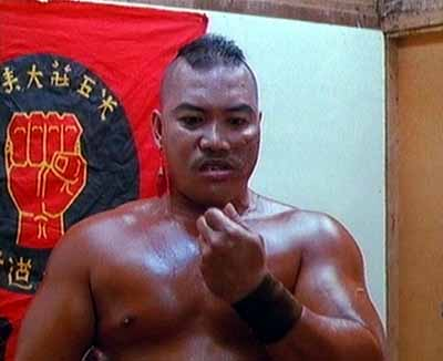 My favourite scene, and a masterclass in character development. For anyone who doubted how hard Chin Woo was, we cut from an unrelated fight to him in the dressing room where he spies a bug, picks it up and eats it. Sheer madness. Sheer genius.