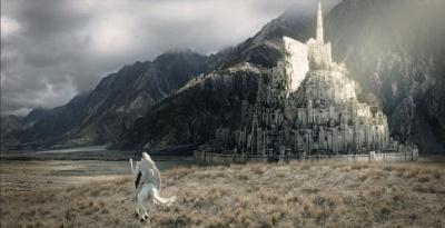 Gandalf rides towards Gondor.